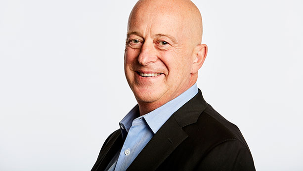 Headshot of Mondelez CEO - Dirk Van de Put