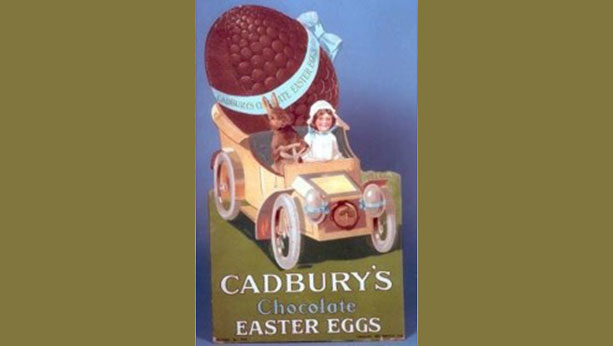 Box of Cadbury's chocolate Easter eggs from 1875.