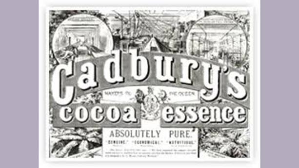 Old ad from 1866 of Cadbury's cocoa essence.