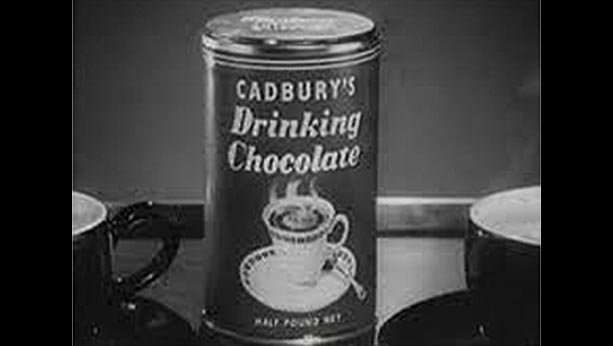 Picture of first ad of Cadbury's hot chocolate from 1955