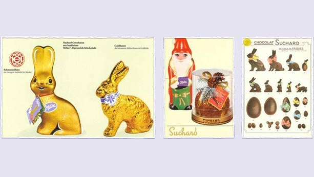 Holiday styled treats from 1926 with bunnies and garden gnomes and Easter eggs.