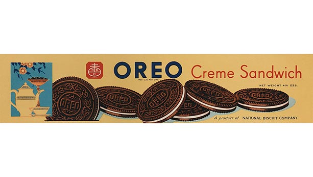 Oreo creme sandwich box from 1937.