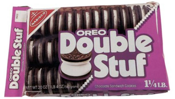 Double stuf Oreo cookie box from 1974