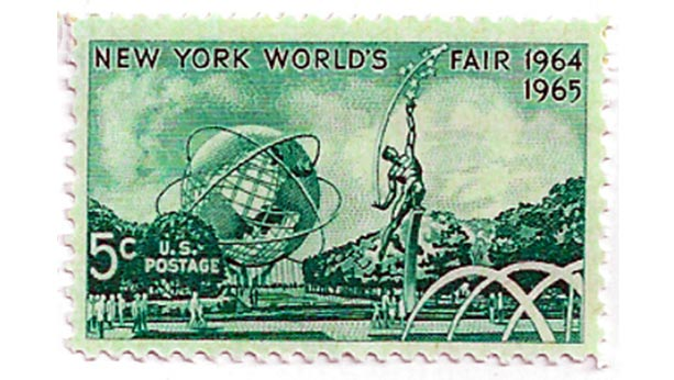 Stamp from 1964 for New York world's fair.