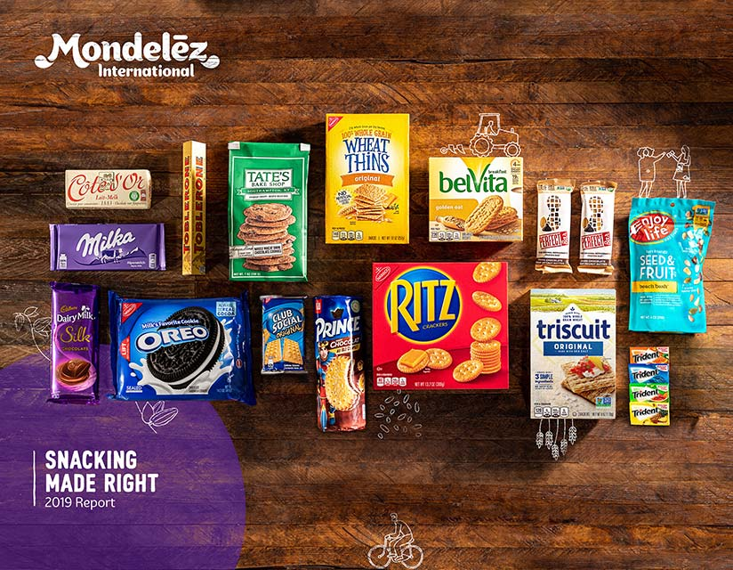 Snacking Made Right cover featuring Mondelez Products